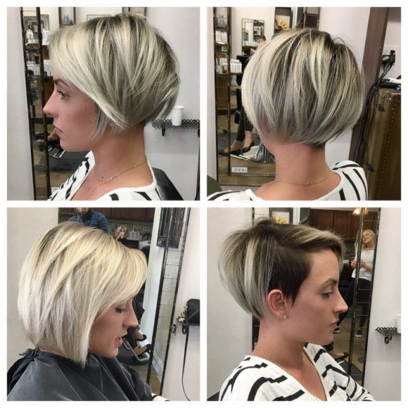 Sleek Undercut Pixie Bob With Blonde Balayage | Hair Ideas In 2018 With Edgy Pixie Bob Hairstyles (View 20 of 25)