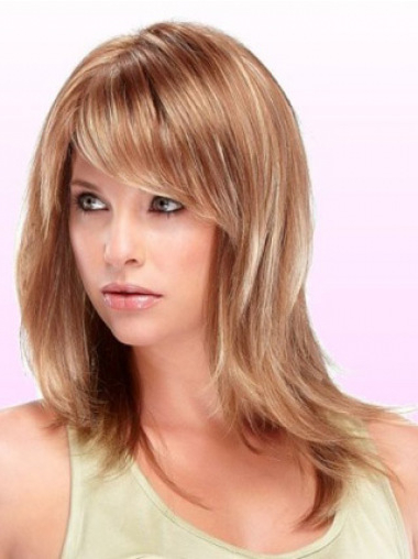 Soft Auburn Straight Shoulder Length Wigs, Wigs Usa With Regard To Soft Auburn Look Hairstyles (View 22 of 25)
