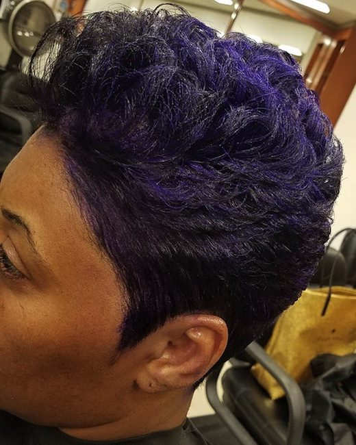 Sophisticate's Black Hair Styles And Care Guide » Purple Haze Within Purple Haze Hairstyles (View 12 of 25)