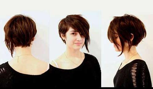 Stylish Asymmetrical Pixie Bob Haircut | Hair In 2018 | Pinterest Regarding Asymmetrical Pixie Bob Hairstyles (View 23 of 25)