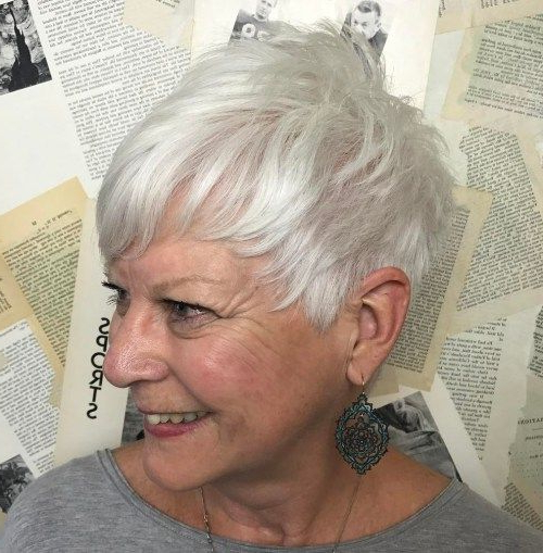 The Best Hairstyles And Haircuts For Women Over 70 In 2018 | Short With Silver Pixie Hairstyles For Fine Hair (View 23 of 25)