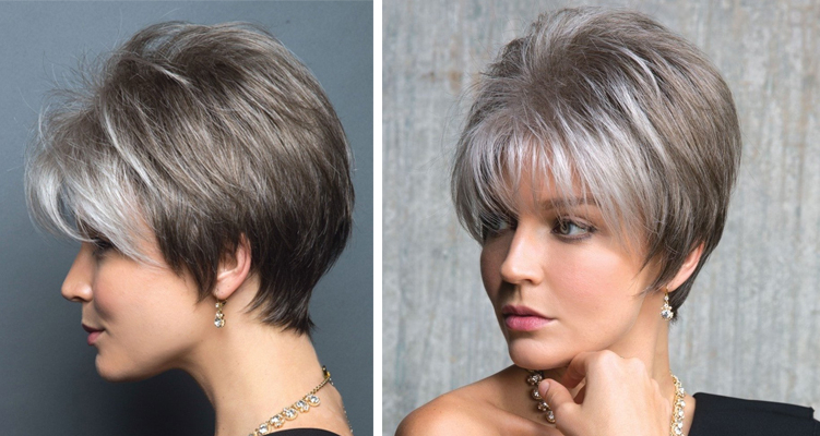 The Grey Hair Trend: 12 Grey Wig Styles You'll Instantly Love — The Intended For Layered Tousled Salt And Pepper Bob Hairstyles (View 24 of 25)