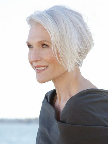 The Silver Fox: Stunning Gray Hair Styles | Bellatory Pertaining To Pure Blonde Shorter Hairstyles For Older Women (View 15 of 25)