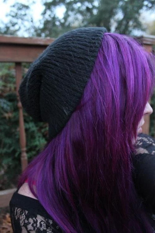 Top 15 Colored Hairstyles (Don't Miss This)! | Pinterest | Purple Within Purple Haze Hairstyles (View 6 of 25)