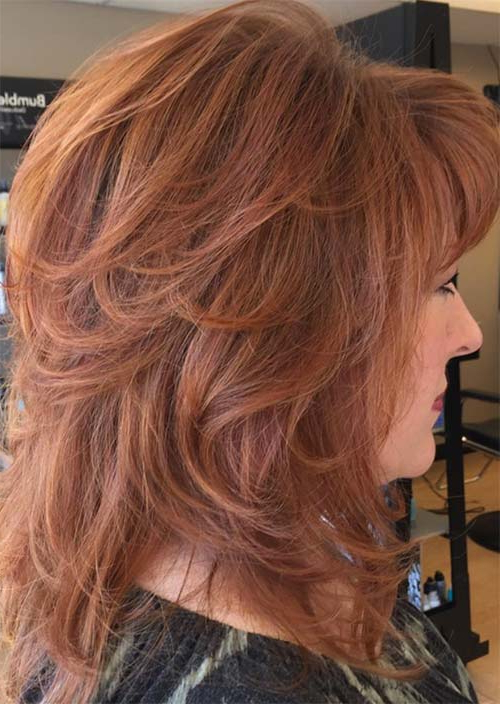 Top 51 Haircuts & Hairstyles For Women Over 50 – Glowsly In Dark Brown Hairstyles For Women Over  (View 16 of 25)