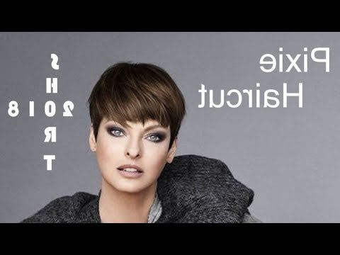 Trend Pixie Haircuts For Short Hair 2018 – Most Preferred Short Pertaining To Long Curly Salt And Pepper Pixie Hairstyles (View 21 of 25)