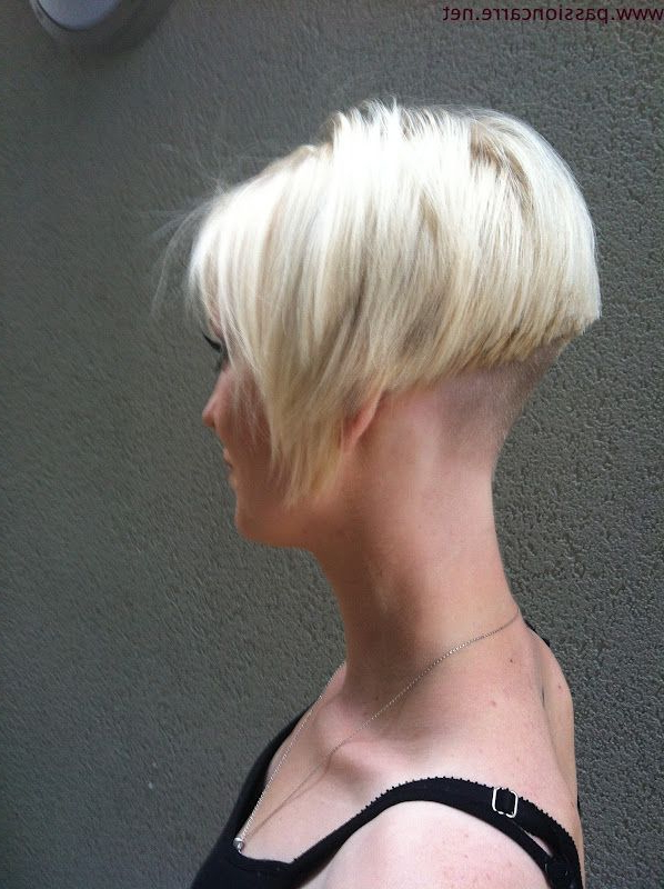 Undercut Bob Haircut   Very Short Hairstyle Clipper Cut Nape And Pertaining To Pixie Bob Hairstyles With Nape Undercut (View 10 of 25)