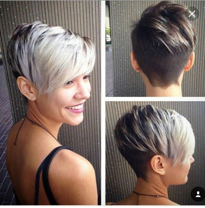 Undercut, Side Swoop, Long Bangs, Grey Color | Hair In 2018 In Cropped Gray Pixie Hairstyles With Swoopy Bangs (View 3 of 25)