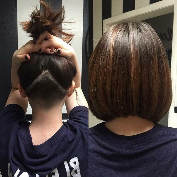 Undercut With An Angled Bob #locksbylinds | Locks.by (View 22 of 25)