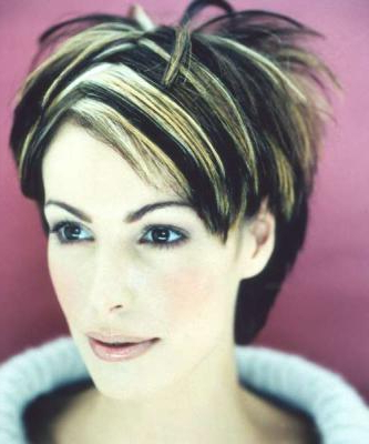 Very Short Layered & Spiky Hair Style With Long Bangs On The Side In Two Tone Spiky Short Haircuts (View 6 of 25)