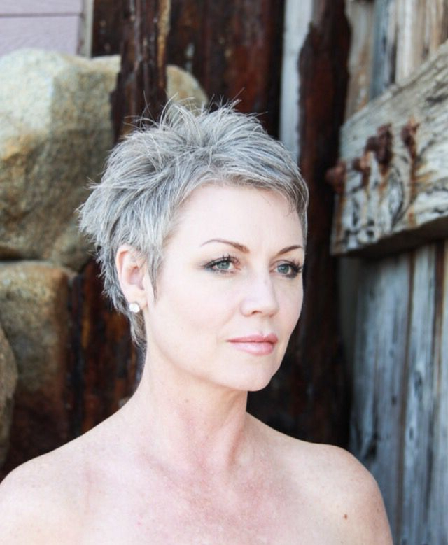 Young Grey Pixie Hair – Google Search … | Silver Foxes In 2018… Intended For Spiky Gray Pixie Haircuts (View 7 of 25)