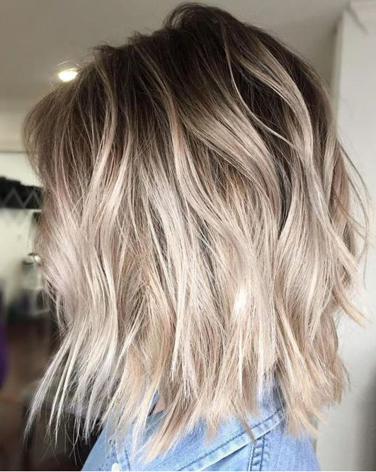 10 Ash Blonde Hairstyles For All Skin Tones 2019 Intended For Current Brown And Blonde Feathers Hairstyles (View 24 of 25)