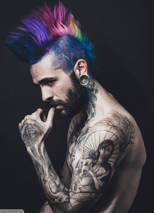 10 Badass Punk Hairstyles For Men In 2018   Bestpickr With Unique Color Mohawk Hairstyles (View 14 of 25)
