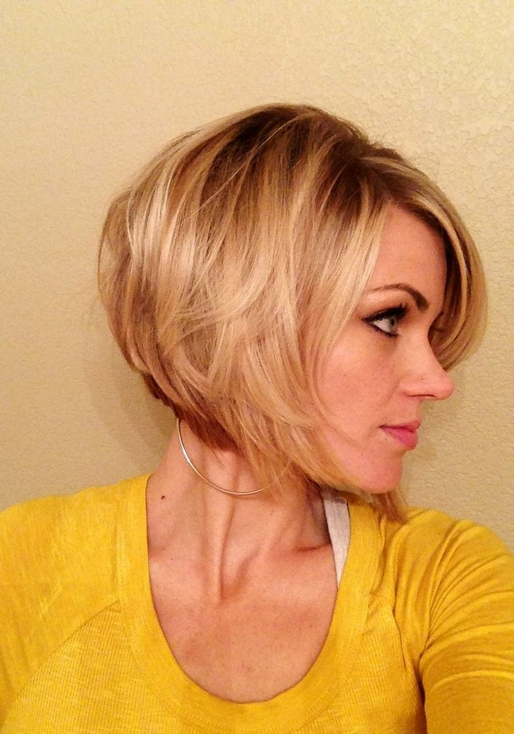 10 Chic Inverted Bob Hairstyles: Easy Short Haircuts – Popular Haircuts For Most Up To Date Perfect Layered Blonde Bob Hairstyles With Bangs (View 12 of 25)