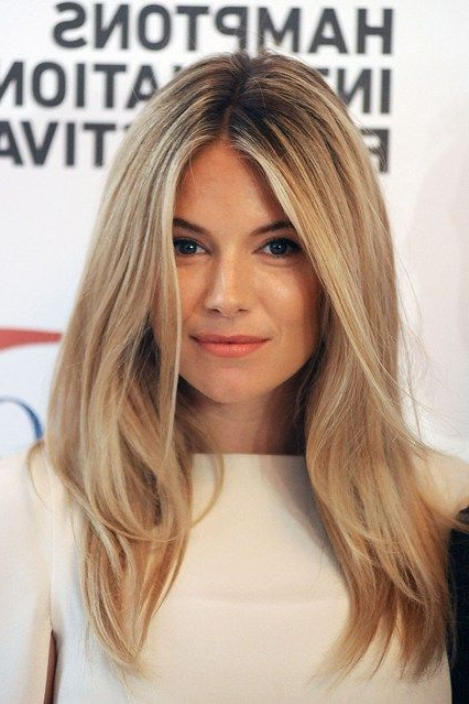 10 Looks To Style Your Center Parting – Middle Part Hairstyles Regarding Most Up To Date Middle Part And Medium Length Hairstyles (View 7 of 25)
