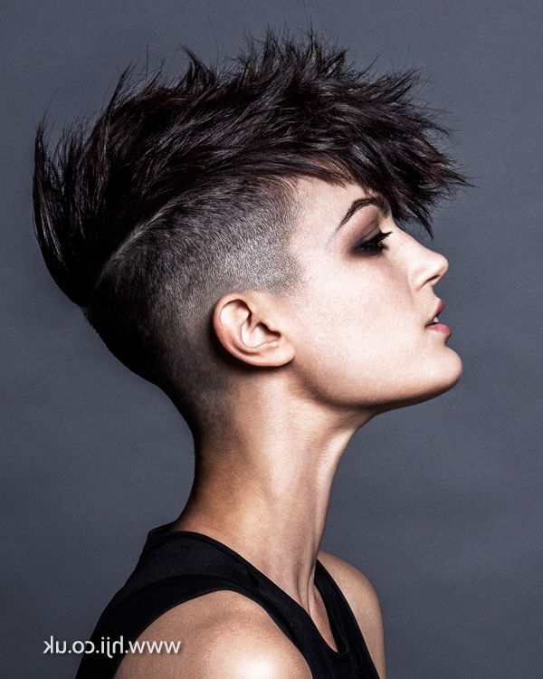 10 Short Hairstyles For Women Over 50 | Womens Hairstyles With High Mohawk Hairstyles With Side Undercut And Shaved Design (View 14 of 25)