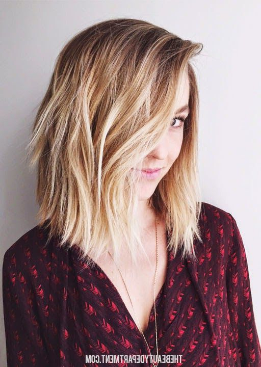 10 Stylish & Sweet Lob Haircut Ideas, Shoulder Length Hairstyles 2019 With Most Up To Date Two Tier Caramel Blonde Lob Hairstyles (View 8 of 25)