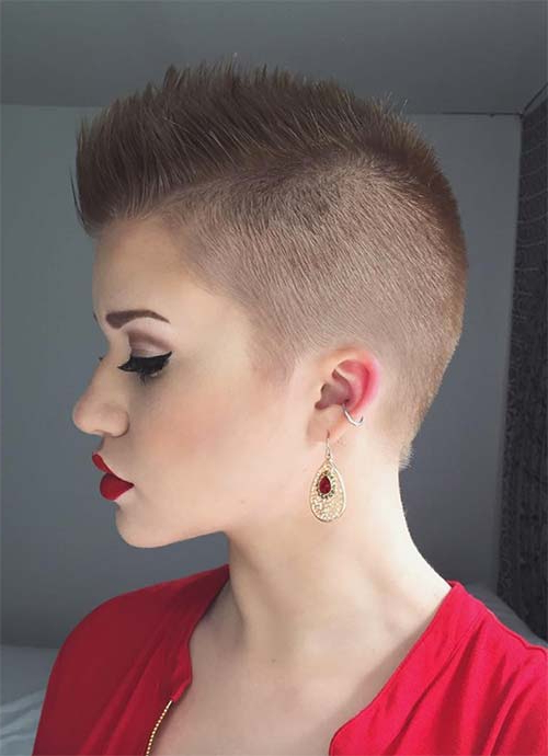 100 Short Hairstyles For Women: Pixie, Bob, Undercut Hair | Fashionisers Within Bleached Feminine Mohawk Hairstyles (View 22 of 25)