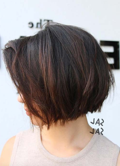 100 Short Hairstyles For Women: Pixie, Bob, Undercut Hair With Regard To 2018 Burgundy Bob Hairstyles With Long Layers (View 10 of 25)