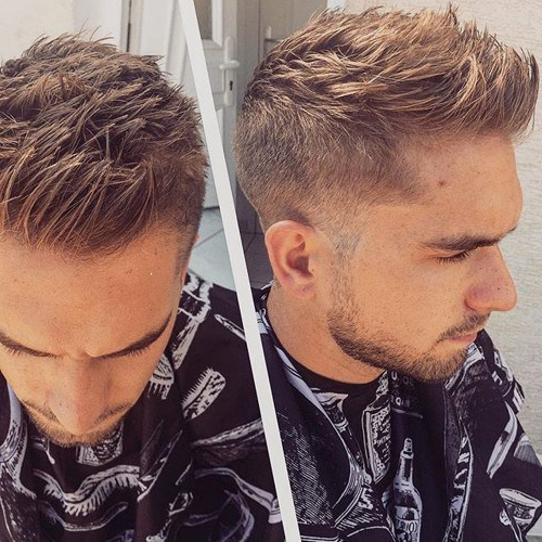 101 Coolest Faux Hawk Hairstyles For Men – Hairstylecamp With Regard To Messy Fishtail Faux Hawk Hairstyles (View 19 of 25)