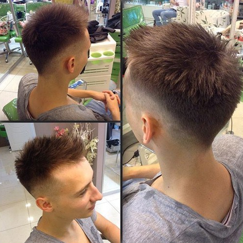 101 Coolest Faux Hawk Hairstyles For Men – Hairstylecamp Within Asymmetrical Pixie Faux Hawk Hairstyles (View 13 of 25)