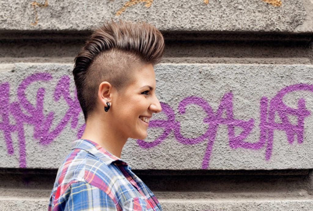 11 Ways To Rock Punk Short Hairstyles With Regard To Mohawk Hairstyles With Vibrant Hues (View 10 of 25)