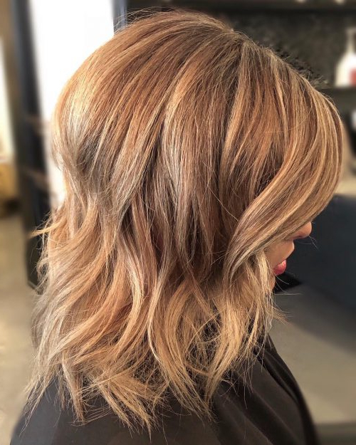 114 Top Shoulder Length Hair Ideas To Try (Updated For 2019) Within Newest Medium Golden Bronde Shag Hairstyles (View 14 of 25)