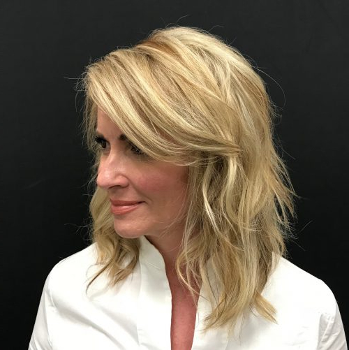 114 Top Shoulder Length Hair Ideas To Try (Updated For 2019) Within Newest Mid Length Haircuts With Side Layers (View 17 of 25)