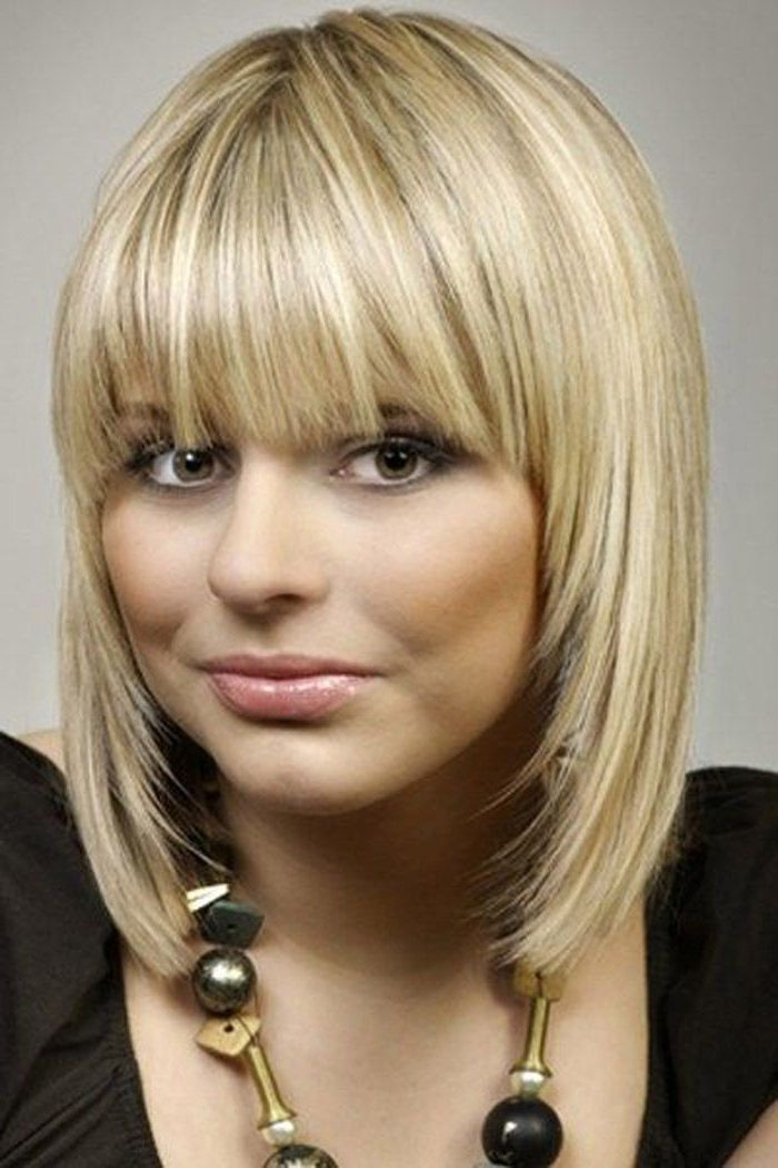 13 Fabulous Medium Hairstyles With Bangs | Pinterest | Medium Inside Most Recently Perfect Layered Blonde Bob Hairstyles With Bangs (View 4 of 25)