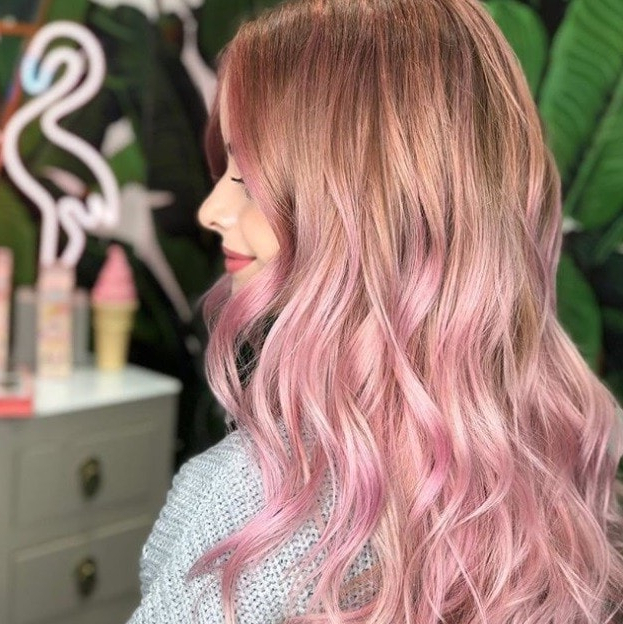 13 Pretty Pink Ombre Hair Looks That We Love From Instagram | All With Regard To Most Popular Medium Haircuts With Fiery Ombre Layers (View 3 of 25)