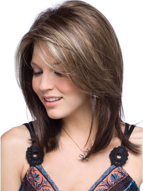 14 Finest Medium Length Hairstyles For Round Faces | Hair | Hair Regarding Best And Newest Shoulder Length Hairstyles With Long Swoopy Layers (View 2 of 25)