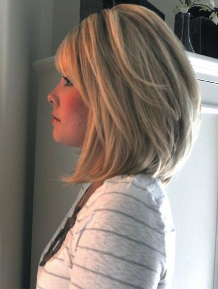 14 Medium Bob Hairstyles For Women Over 50 Pictures | My Style In Newest Flipped Lob Hairstyles With Swoopy Back Swept Layers (View 21 of 25)
