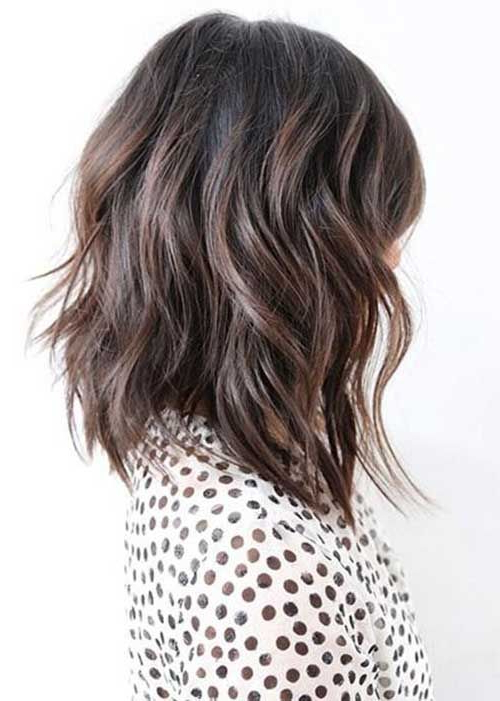 15 New Layered Long Bob Hairstyles | Bob Hairstyles 2015 – Short With Best And Newest Layered Wavy Lob Hairstyles (View 11 of 25)