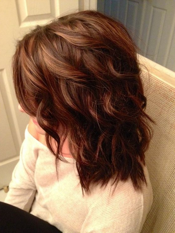 17 Best Medium Wavy Hairstyles 2018 – 2019   On Haircuts Pertaining To Current Medium Layered Wavy Haircuts (View 18 of 25)