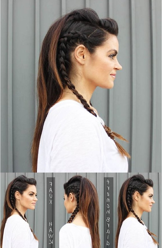 17 Fabulous Faux Hawk Hairstyle Tutorials For French Braid Pinup Faux Hawk Hairstyles (View 9 of 25)