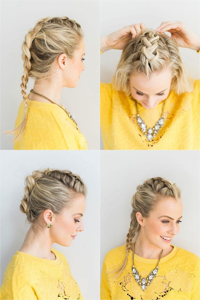 17 Fabulous Faux Hawk Hairstyle Tutorials Inside Messy Braided Faux Hawk Hairstyles (View 18 of 25)