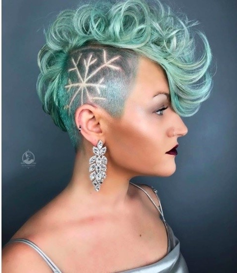 17 Female Mohawk Hairstyles That'll Really Turn Heads – Punk 101 Within Textured Blue Mohawk Hairstyles (View 12 of 25)