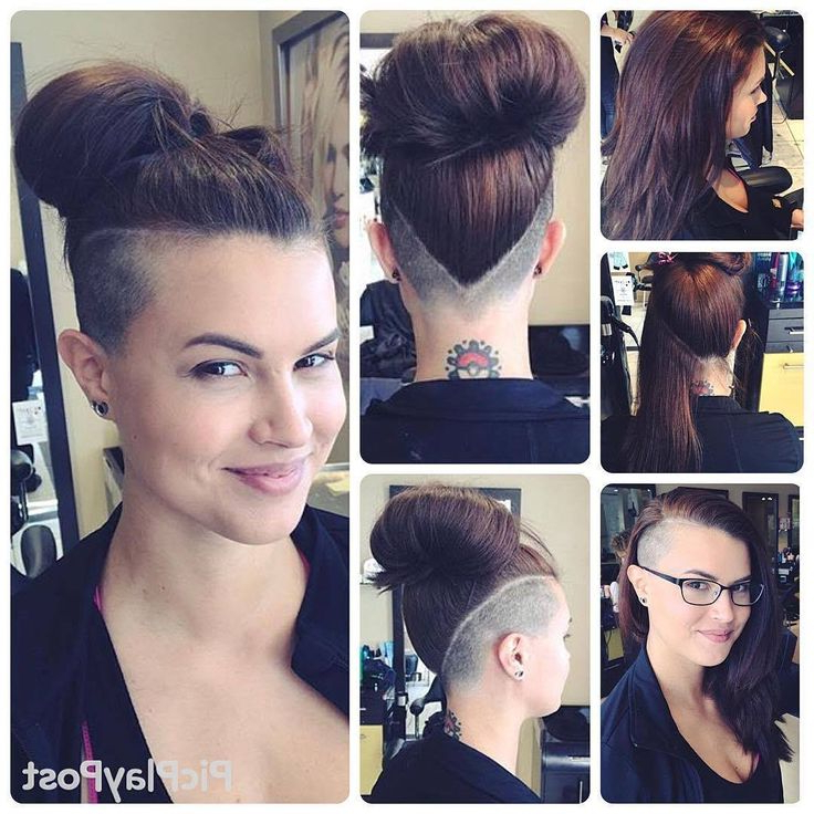 18 Best Hairstyles Images On Pinterest | Hairstyle Ideas, Short Hair With High Mohawk Hairstyles With Side Undercut And Shaved Design (View 20 of 25)
