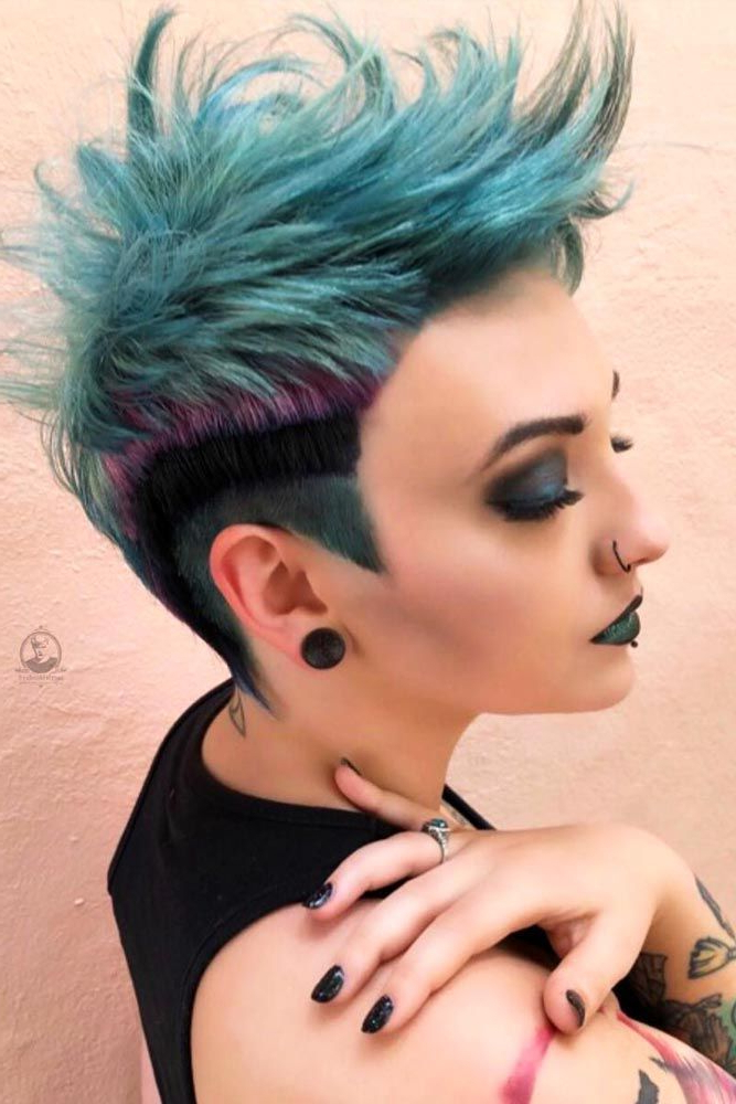 18 Cool And Daring Faux Hawk Hairstyles For Women | Hair & Makeup Regarding Pink Pixie Princess Faux Hawk Hairstyles (View 4 of 25)