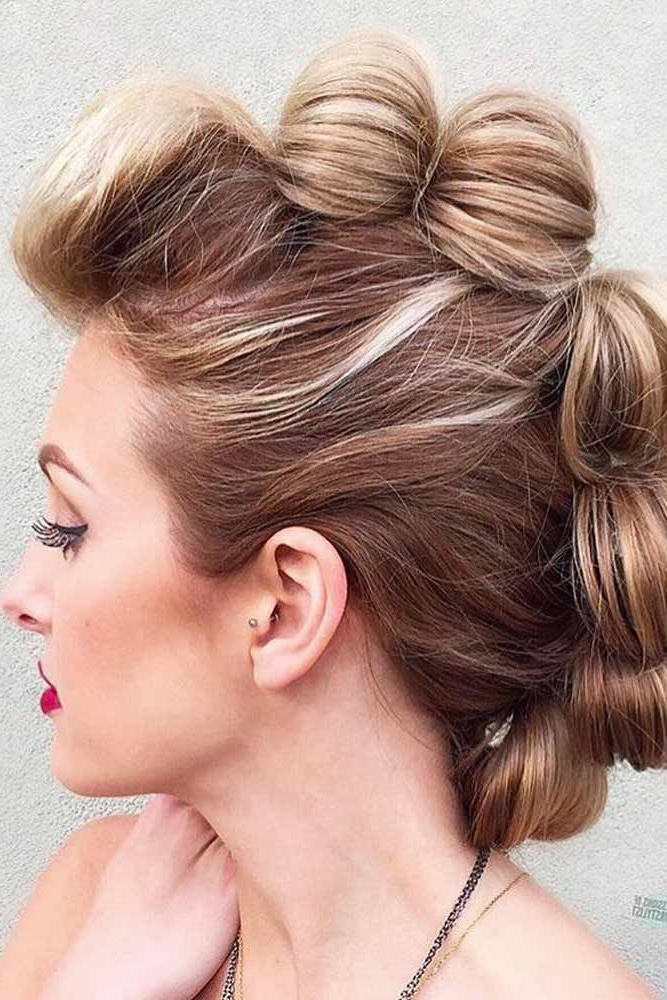 18 Cool And Daring Faux Hawk Hairstyles For Women   Hair   Pinterest Throughout Unique Updo Faux Hawk Hairstyles (View 2 of 25)