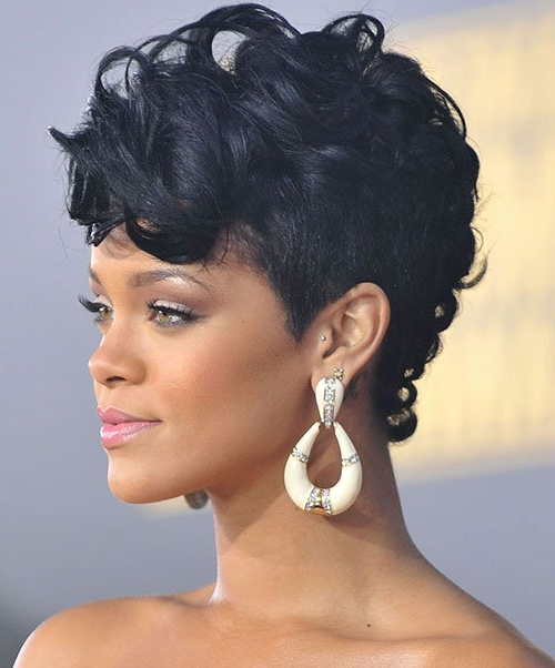 20 Badass Mohawk Hairstyles For Black Women For Glamorous Mohawk Updo Hairstyles (View 12 of 25)