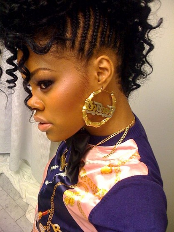 20 Badass Mohawk Hairstyles For Black Women In Funky Pink Mohawk Hairstyles (View 8 of 25)