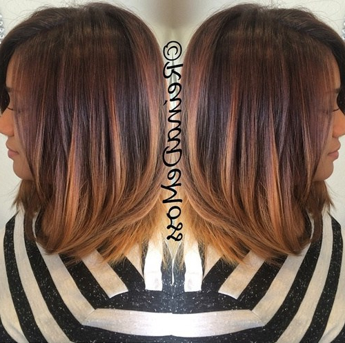20 Beautiful Ombre Hair Hairstyles  Ombre Hair Color Ideas Inside Most Recent Medium Haircuts With Fiery Ombre Layers (View 5 of 25)