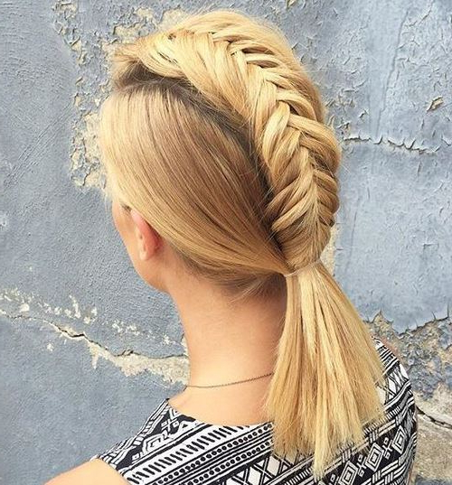 20 Cool Faux Hawk Inspired Hairstyles For Women | Styles Weekly With Regard To Messy Fishtail Faux Hawk Hairstyles (View 9 of 25)