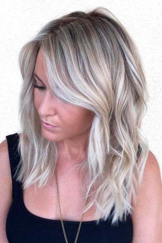 20 Fun, Flirty, Fashionable Layered Haircuts For Medium Hair For 2018 Choppy Waves Hairstyles (View 22 of 25)