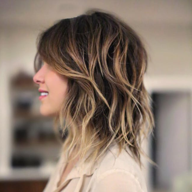20 Modern Shag Hairstyles Every Cool Girl Needs To Try | Brit + Co Throughout Most Popular Straight Layered Tresses In A Line Hairstyles (View 4 of 25)