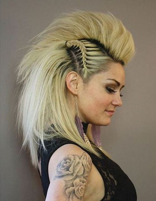 20 Newest Faux Hawks For Girls And Women   Fashion   Hair Styles With Regard To Punk Rock Princess Faux Hawk Hairstyles (View 3 of 25)
