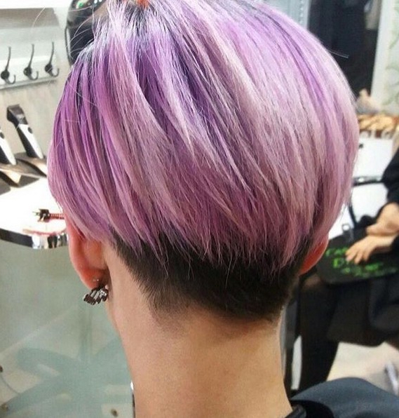 20 Shorter Hairstyles Perfect For Thick Manes – Popular Haircuts With Regard To Lavender Ombre Mohawk Hairstyles (View 21 of 25)