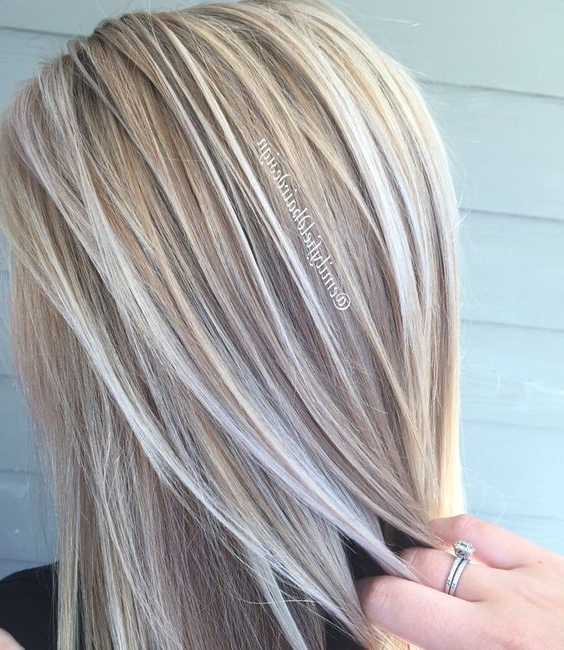 20 Trendy Hair Color Ideas 2019: Platinum Blonde Hair Ideas For Most Popular Fringy Layers Hairstyles With Dimensional Highlights (View 13 of 25)