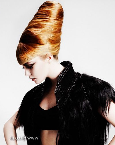 2012 Blonde And Copper Hair Tower Womens Hairstyle Hairstyle Long With Braided Tower Mohawk Hairstyles (View 11 of 25)